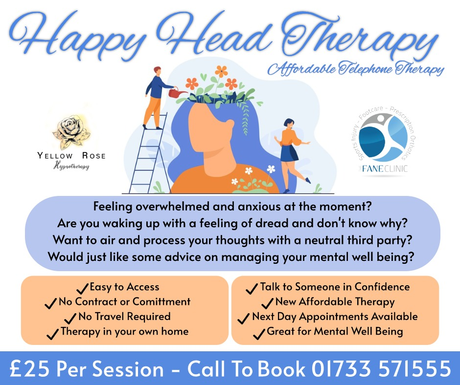 NEW! Happy Head Therapy in Peterborough